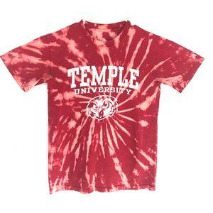 Temple University Owls Custom tiedye T-shirt
